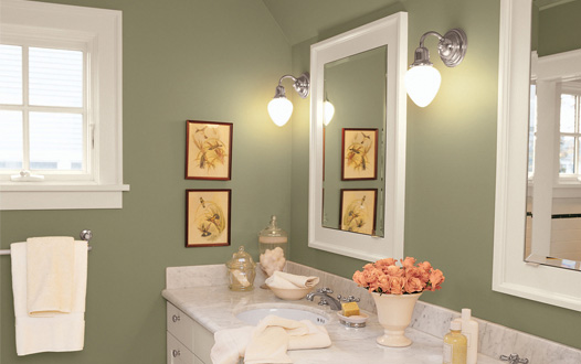 Popular bathroom paint colors walls home design elements for Green bathroom paint colors